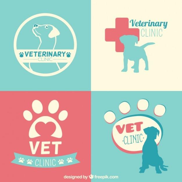 Clinique Vétérinaire Modèles De Logo Vecteur gratuit