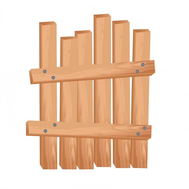 Clôture en bois Vecteur gratuit