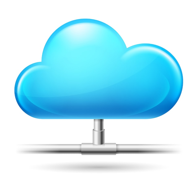 Cloud Computing. Illustration Sur Fond Blanc Vecteur Premium