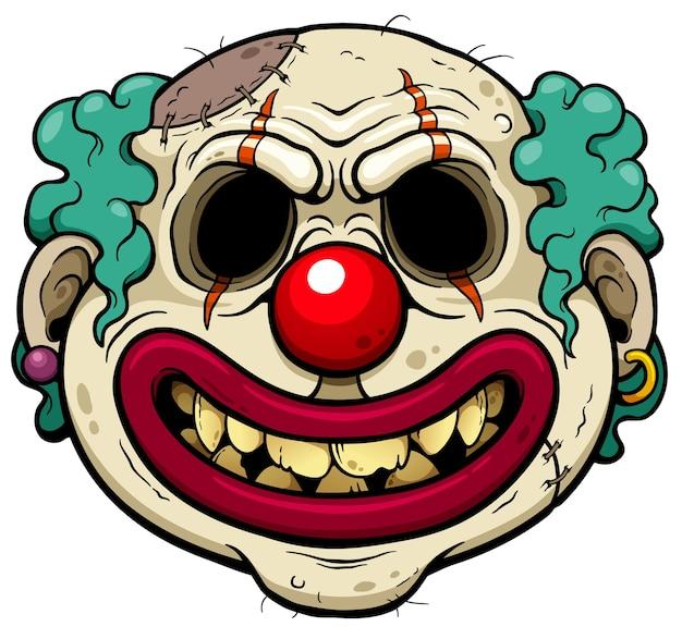 Clown Zombie Cartoon Vecteur Premium