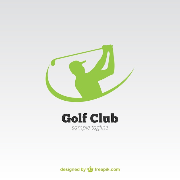 Club de golf logo Vecteur gratuit
