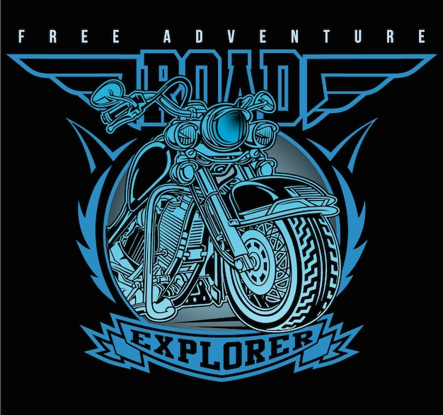 Club moto classique Vecteur Premium