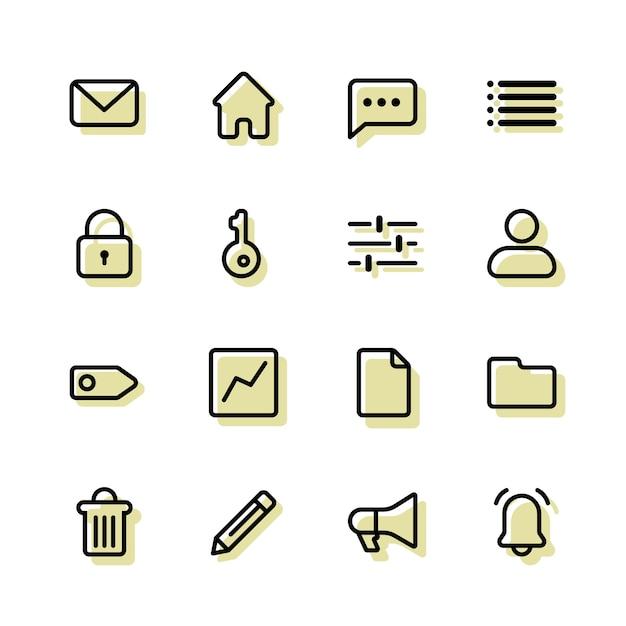 Cmr cmr erp icônes fond de couleur Vecteur Premium