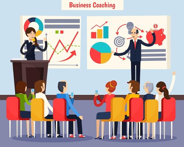 Coaching d'affaires orthogonal Vecteur gratuit