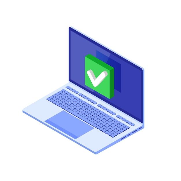 Cochez Ou Cochez La Notification Vecteur Premium