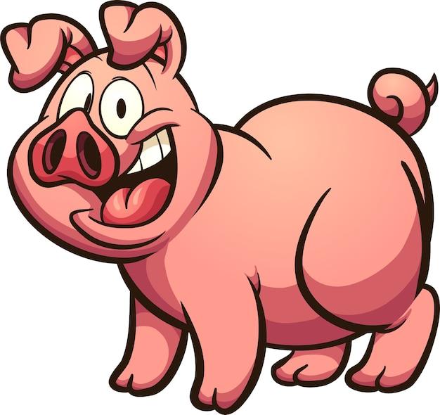 Cochon Dessin cochon dessin animé | télécharger des vecteurs premium