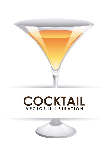 Cocktail Sur Blanc Vecteur gratuit