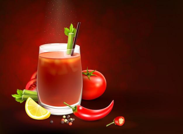 Cocktails Composition Réaliste Vecteur gratuit