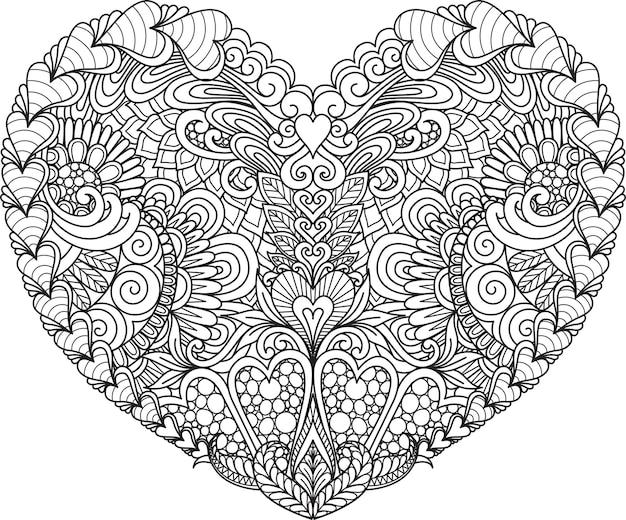 Coeur Abstrait Vecteur Premium