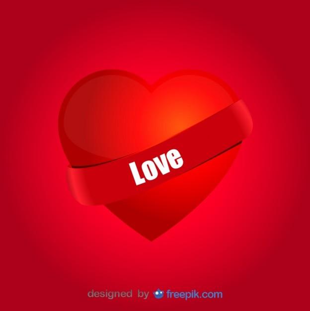 Coeur D Amour Passion Fond Rouge Télécharger Des Vecteurs