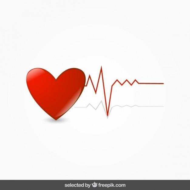 Coeur Avec électrocardiogramme Vecteur gratuit