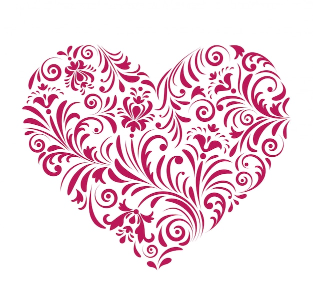 Coeur rouge saint valentin Vecteur Premium