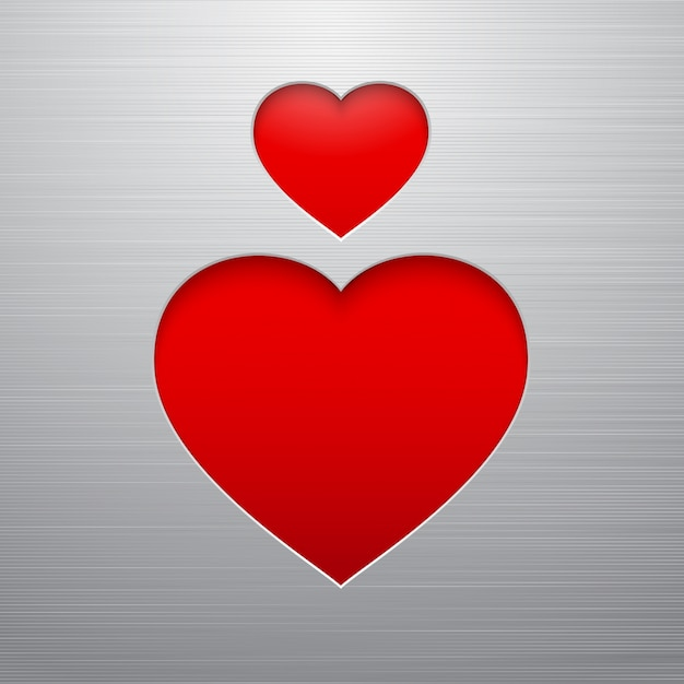 Coeur de la saint valentin Vecteur gratuit