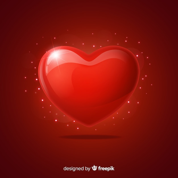 Coeur scintillant Vecteur gratuit