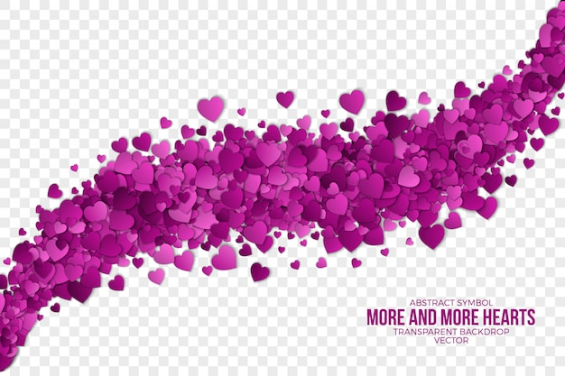 Coeurs abstraits 3d Vecteur Premium