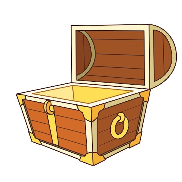 Coffre au tr sor de dessin anim ouvert t l charger des - Dessin de coffre de pirate ...