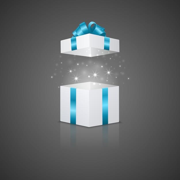 Coffret Cadeau Avec Effet Magique Vecteur Premium