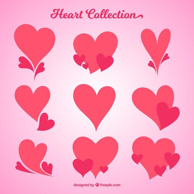La collecte des coeurs Vecteur gratuit