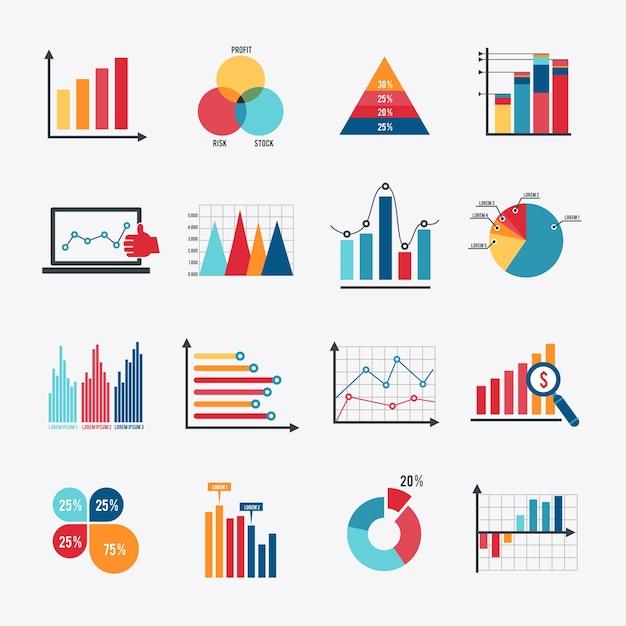 La collecte des éléments infographiques Vecteur Premium