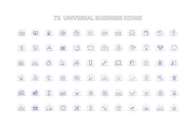 Collecte d'icônes d'affaires universelles Vecteur gratuit
