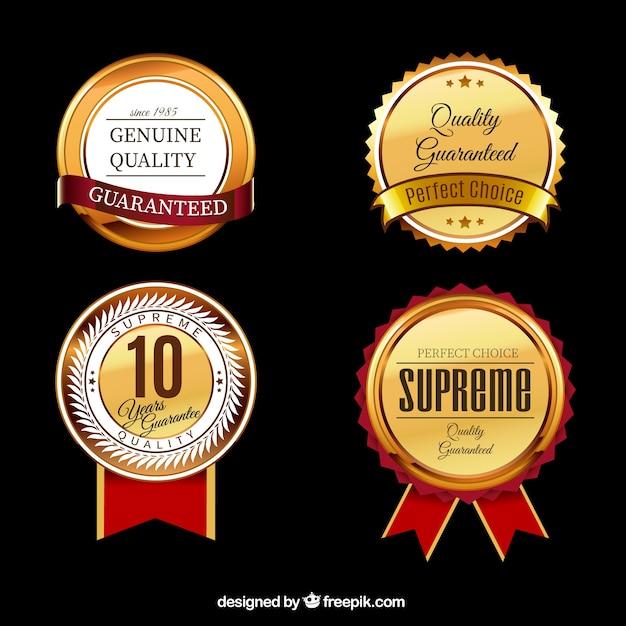 Collecte des labels de qualité Vecteur gratuit
