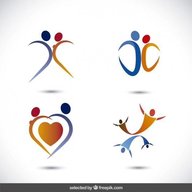 La collecte des logos de genre Vecteur gratuit