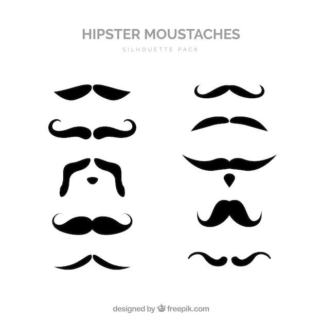 Collecte De Moustache Vecteur gratuit