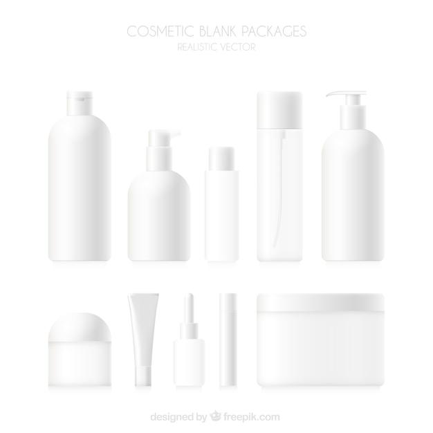La collecte des produits cosmétiques vierges Vecteur gratuit