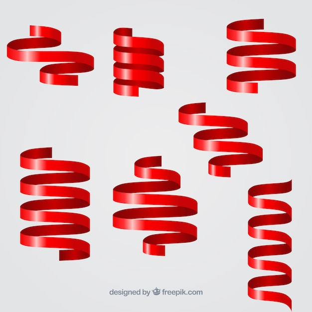 Collecte Des Rubans En Spirale Vecteur gratuit