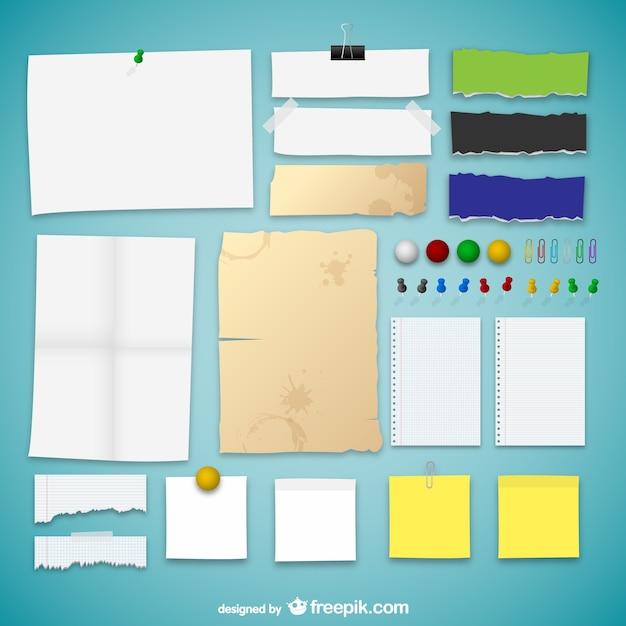 La collecte des textures de papier Vecteur gratuit