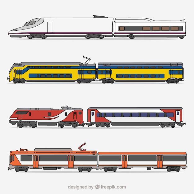 Collecte De Train Moderne Vecteur gratuit