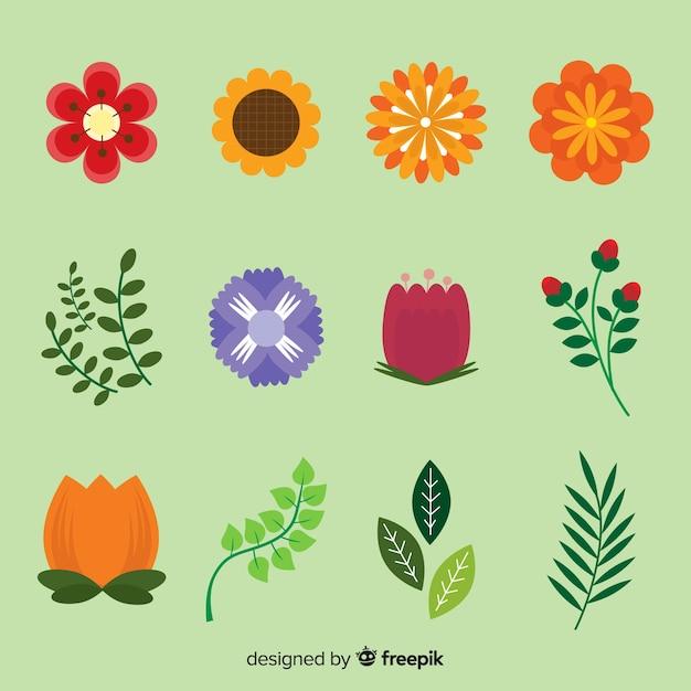 Collectio élément floral Vecteur gratuit