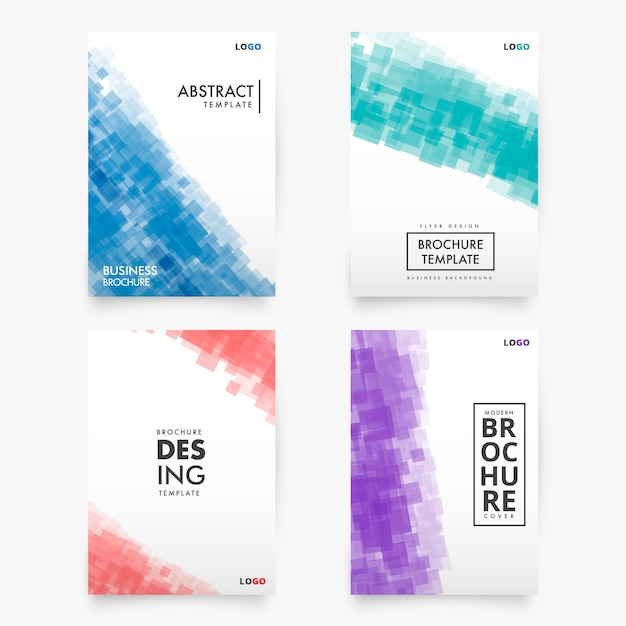 Collection abstraite de modèles de brochures modernes Vecteur gratuit
