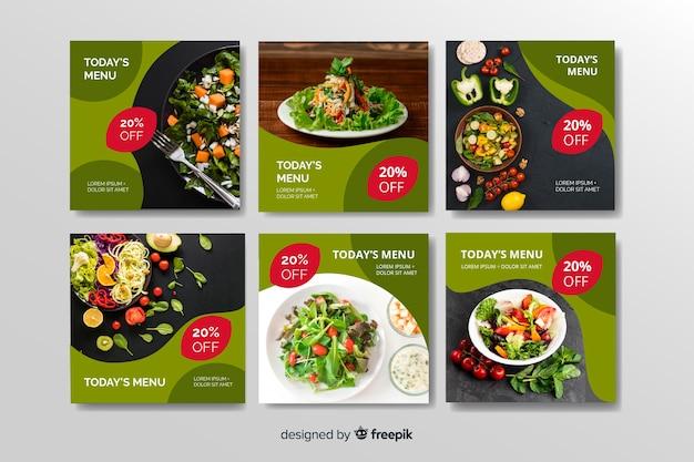 Collection D'aliments Après La Nourriture Saine Avec Photo Vecteur gratuit