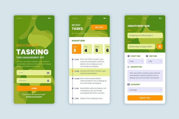 Collection D'applications De Gestion Des Tâches Vecteur gratuit