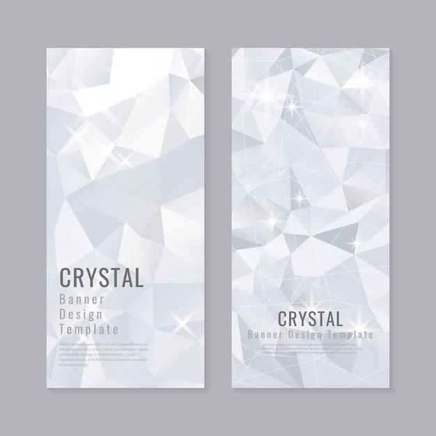 Collection d'arrière-plan cristal texturé Vecteur gratuit