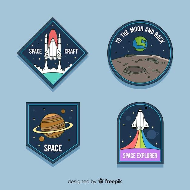 Collection D'autocollants Astronomiques Colorés Vecteur gratuit
