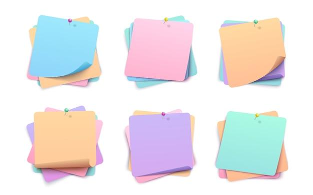Collection d'autocollants multicouches en papier Vecteur Premium