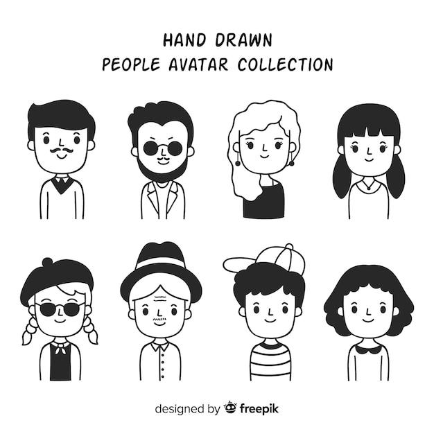 Collection D'avatar De Personnes De Bande Dessinée Vecteur gratuit