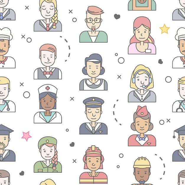 Collection d'avatars de personnes. Vecteur gratuit