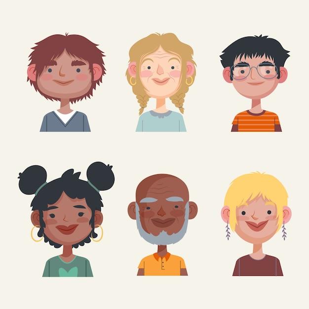 Collection D'avatars De Personnes Vecteur gratuit