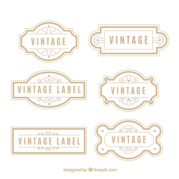 Collection de badge vintage Vecteur gratuit