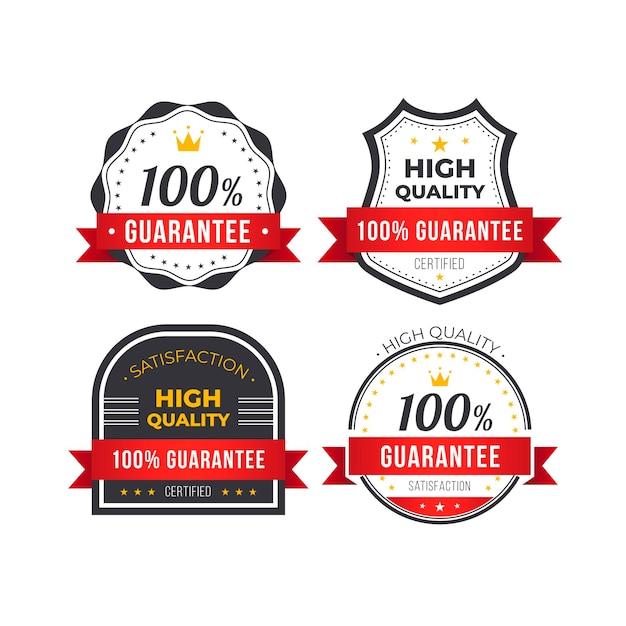 Collection De Badges 100% Garantie Vecteur gratuit