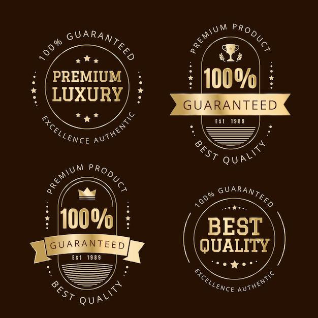 Collection De Badges / étiquettes De Garantie à 100% Vecteur gratuit