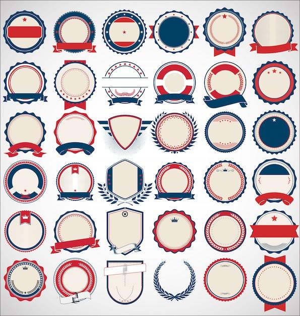 Collection De Badges Et étiquettes Vecteur Premium