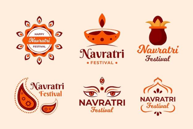 Collection De Badges Navratri Vecteur gratuit