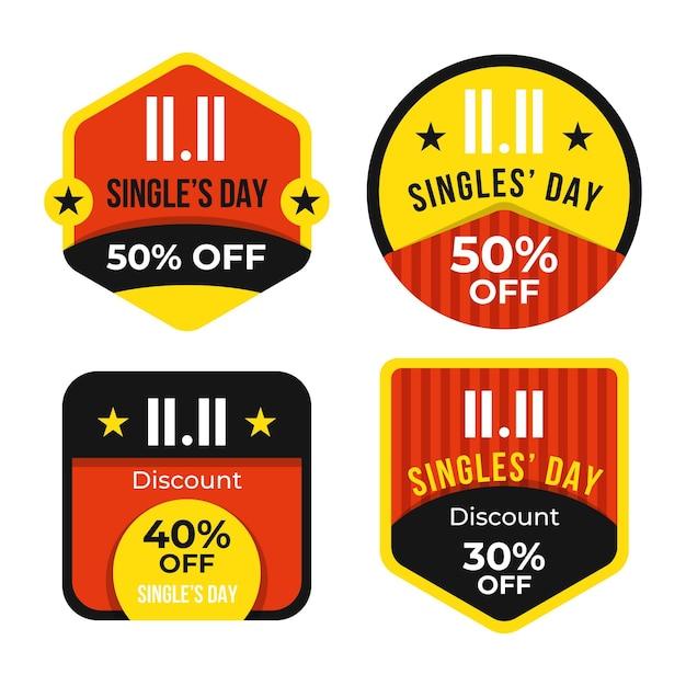 Collection De Badges Pour Célibataires Vecteur gratuit