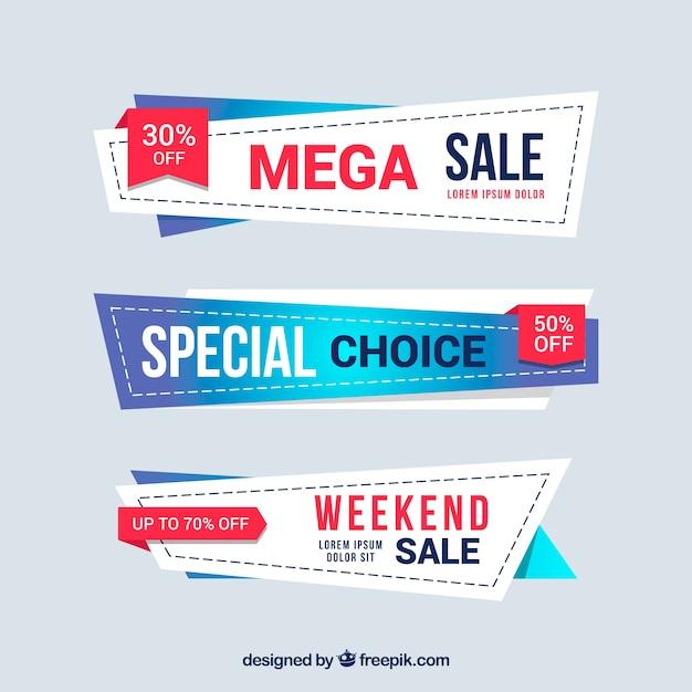 Collection de badges de vente en dégradé Vecteur gratuit