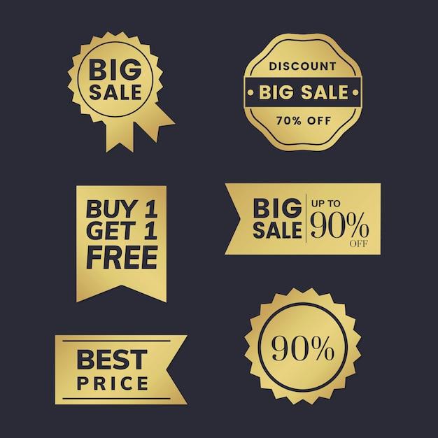 Collection de balises à prix réduits Vecteur gratuit