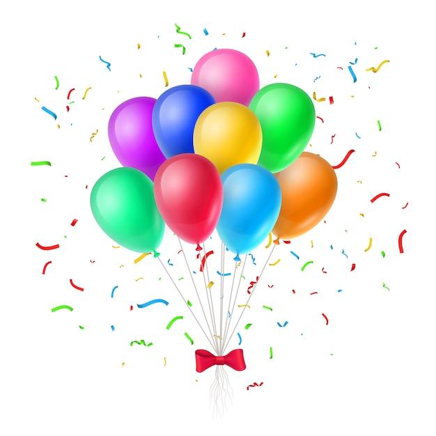 Collection de ballons colorés Vecteur gratuit
